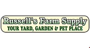 Product image for Russell's Farm Supply Co. $2 OFF annuals (flats)