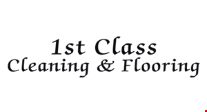 1st Class Carpet Care logo