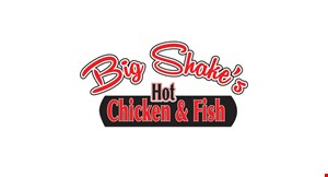Product image for Big Shake's Hot Chicken & Fish #5 THE SAMPLER! FEEDS 5-6 $10 OFF (Normally $59.99, Now $49.99) Includes 8 Jumbo Chicken Tenders, 5 Catfish Fillets, 4 Whole Chicken Wings, 3 Pint Size Sides and 6 Deep-Fried Oreos. Choose 5 dipping sauces! Feeds 5-6.