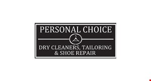 Product image for Personal Choice Dry Cleaning,Tailoring & Shoe Repair $15 For $30 Worth Of Dry Cleaning
