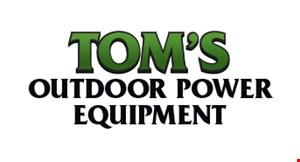 Tom's Outdoor Power Equipment logo