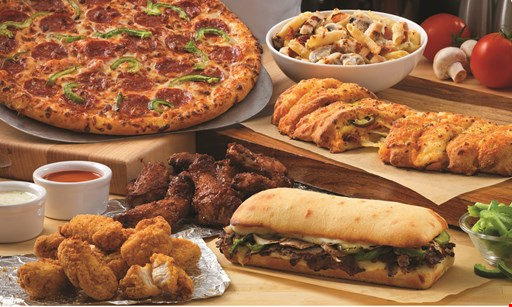 Product image for Domino's Pizza CARRY OUT SPECIAL 10 Wings or 3 Topping Pizzas Any Size Pizza, Any Crust, No Limit! • Hand Tossed • Crunchy Thin Crust • Brooklyn • Handmade Pan (med) • Gluten Free (small). $7.99 EACH +tax.