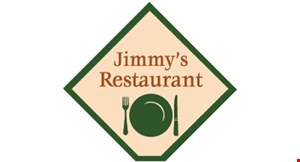 Product image for Jimmy's Restaurant $5 OFF any purchase of $25 or more.