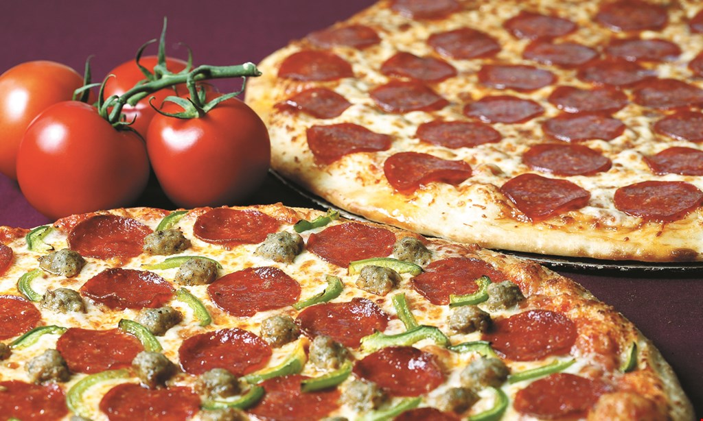 """Product image for Maciano's Two or more 12"""" thin crust one-topping pizzas two 12"""" pizzas feeds 4-6. $8.99 each. Upgrade to two or more 14"""" thin crust pizzas + $3 each"""