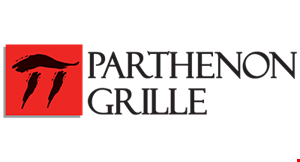 Product image for Parthenon Grille $10 OFF dinner purchase of $50 or more valid after 4pm not valid on alcohol.
