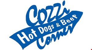Product image for Cozzi Corner Hot Dogs & Beef $1 OFF any sandwich priced $4.50 & up