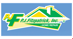 Product image for P.J. Fitzpatrick Inc $279 home repair special. Any Minor Roofing, Siding or Gutter Repair.