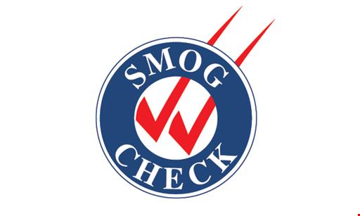 Product image for T O SMOG $39.75 SMOG CHECK +CERT & ETF.