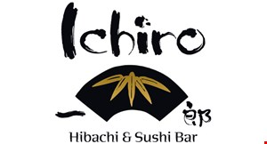 Product image for Ichiro Hibachi & Sushi Bar 15% off entire purchase dinner only minimum order of $25.