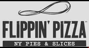 Flippin' Pizza NY Pies & Slices logo