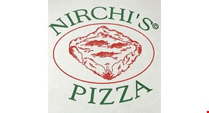 Product image for Nirchi's Pizza $1 off a full sheet of pizza.