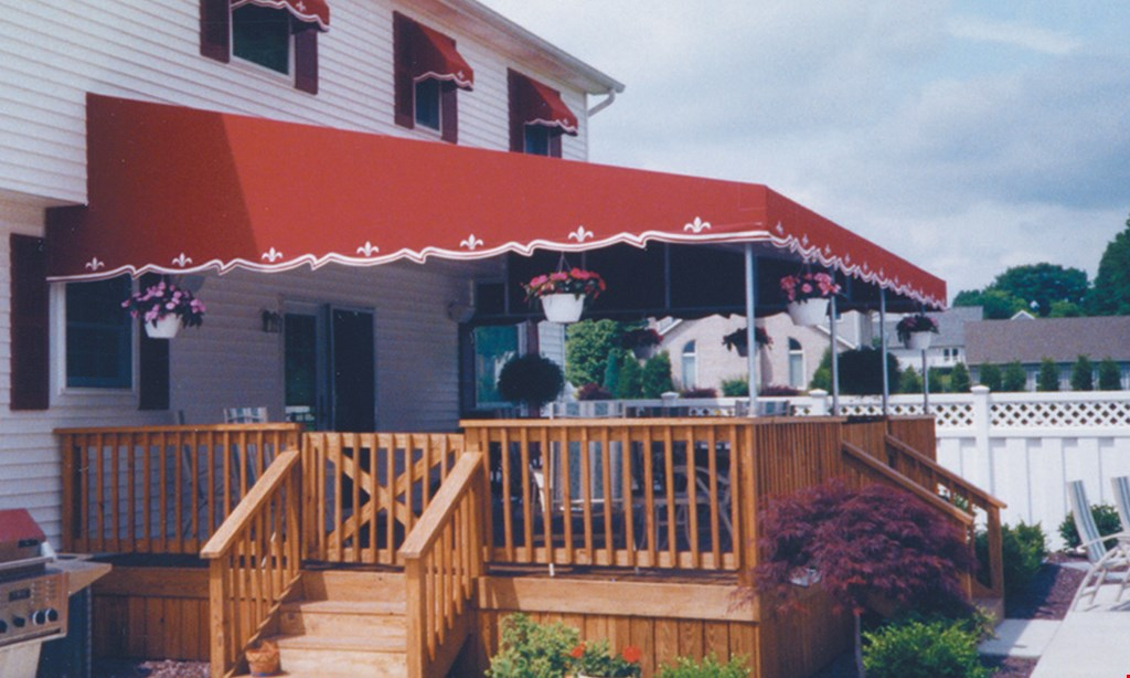 Product image for Custom Tarpaulin Products Inc. FREE first year Fall take down & winter storage on any local new seasonal awning purchase of $500 (must include new frame).