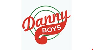 """Product image for Danny Boys $14.99 16"""" Family Size 2-Topping Pizza. Carry-out or Delivery Only."""