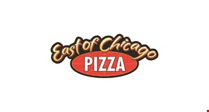 Product image for East Of Chicago Pizza 2-topping pizza Pan, Thin or Crispy Does not include Specialty Pizzas. Medium $9.99. Large $12.99.