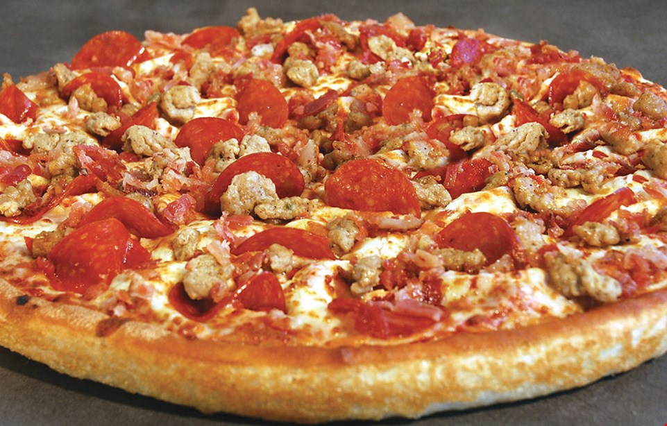 Product image for East Of Chicago Pizza 2- Topping Pizza Med $10.99 | Large $13.99 pan thin or crispy