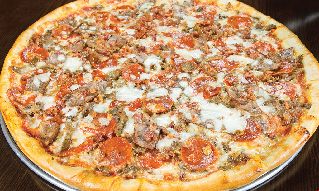 "Product image for Gionino's Pizzeria MEDIUM 12"" SPECIALTY PIZZA Only $12.95, ADDITIONAL ITEMS $1.60, EXTRA CHEESE $2.75 • SPECIALTY TOPPINGS $2.50."