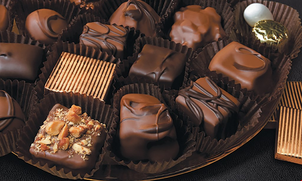 Product image for Gorant Chocolatier Buy One, Get One 50% Off item. With this coupon only. Item discounted must be of equal or lesser value.