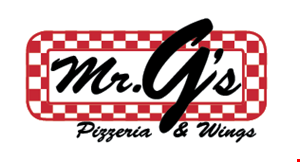 Product image for Mr. G's Pizzeria & Wings $10 OFF any purchase of $50 or more.