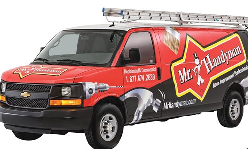Product image for Mr. Handyman E3 E4 $50 OFF. This coupon is valid for $50 worth of services provided by Mr. Handyman.