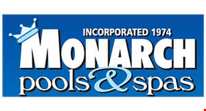 Product image for Monarch Pools FREE• Bluetooth sound system• Ozone • cover & cover lifter• Steps • Start-up chemicals• standard deliveryWith any 2020 Saratoga Spa.