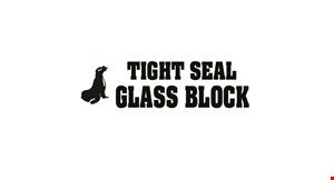 Product image for Tight Seal Glass Block $15 off Glass Block Windows