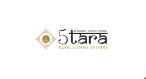 Product image for 5 Tara Authentic Indian Cuisine $10 off any purchase of $50 or more.