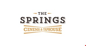 Product image for The Springs Cinema & Taphouse Free large soft drink with the purchase of any entree (valid Mon & Tues only).