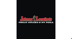 Product image for Johnny Longhots $29.99 + tax 1 lg. pizza, 20 wings & 2 orders of fries.