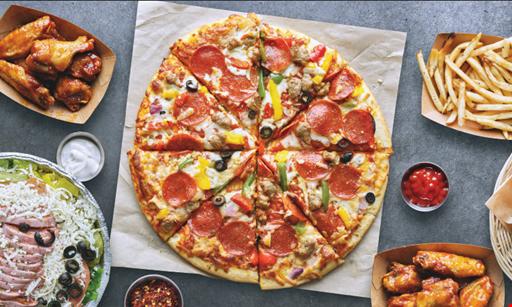 Product image for Venezia's Gilbert $21.99 + tax Lg 1-item pizza + 1 bone-in wings. Boneless wings are $1 less.