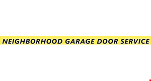 Product image for Neighborhood Garage Door Service $100 off single steel doors 8x7 insulated models 6/5/20.
