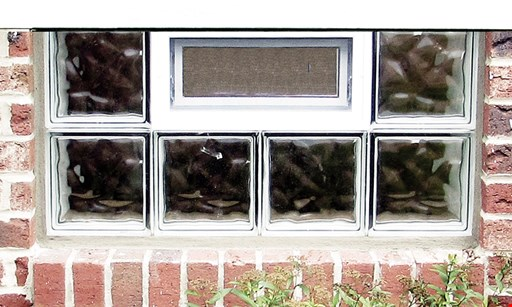 """Product image for Dayton Glass Block Co. Starting at $128 installed installed price based on 3 or more 32"""" x 14"""" non-vented glass block windows"""