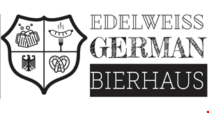 Product image for Edelweiss German Bierhaus $15 For $30 Worth Of German Cuisine