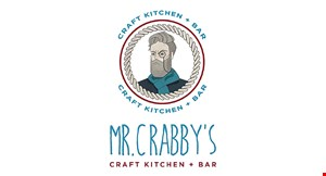 Mr. Crabby's Craft Kitchen + Bar logo