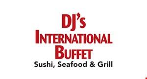 DJ's International Buffet logo