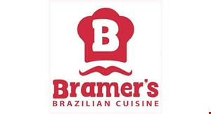 Product image for Bramer's Brazilian Cuisine ½ PRICE entrée buy one entrée, get one of equal or lesser value 1/2 price.