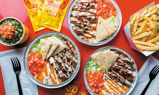Product image for The Halal Guys - Gyro and Chicken $20 two sandwiches, two drinks & one side