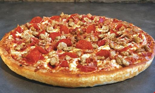 Product image for East Of Chicago Pizza Full order garlic cheese bread sauce may not be included. $3.99.