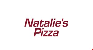 Product image for Natalie's Pizza $17.99 + tax 2 Large 1-Topping Pizzas