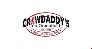 Crawdaddy's on Greenfield logo