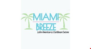 Product image for Miami Breeze Latin American & Caribbean Cuisine 25% off all orders of $40 or more.