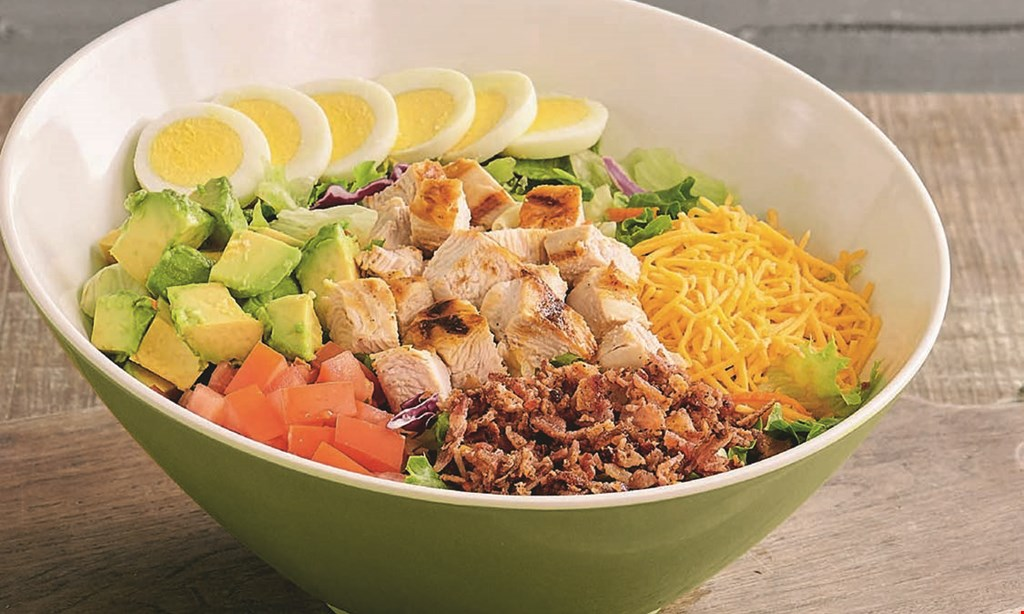 Product image for Farmer Boys FREE SALAD when you buy 1 salad & 2 drinks (free salad of equal or lesser value).