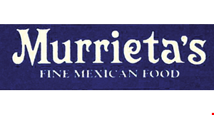 Product image for Murrietas Restaurant $5 OFF Any Take-Out Order Of $25 Or More.
