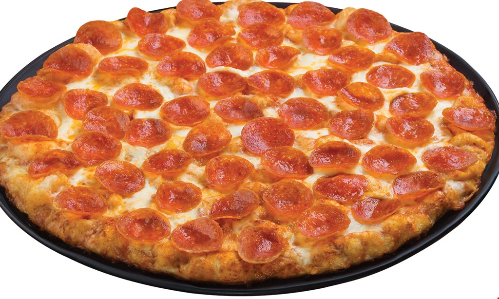 Product image for Round Table Pizza Carryout/Delivery Special! Lg. Double Play Pepperoni Pizza $19.99 + tax