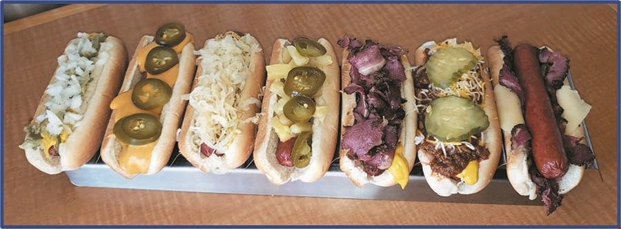 Product image for Water Shack Suds & Grub $1 OFF Pastrami Sandwich.