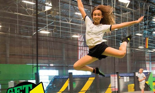 Product image for Get Air Trampoline Park FREE1 hour of jump time