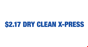 $2.17 Dry Clean X-Press logo