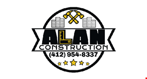 Product image for Alan Construction $150 offany job of $1,500 or more.