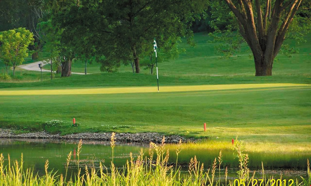 Product image for Mayville Golf Course $10 OFF 18 holes of golf with a cart max. value $40. no singles, please.