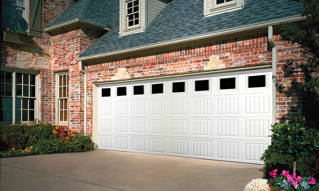 Product image for Overhead Door Company  Of Southern California SPRING SPECIAL 3-LAYER POLYURETHANE INSULATED STEEL GARAGE DOOR & WINDOW PACKAGE Reg. $2,415 Now $1,895 Installed* (16x7 only / R-value 12.76) Package Includes Thermacore® Collection 190 Clear Glass Only (Design Inserts Extra) *Standard Installation Select designs only, call for details.