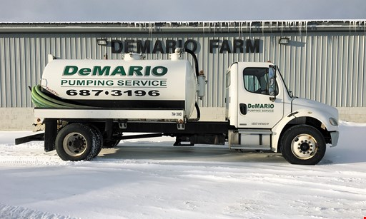 Product image for DeMario Pumping Service $25 OFF any septic tank cleaning.
